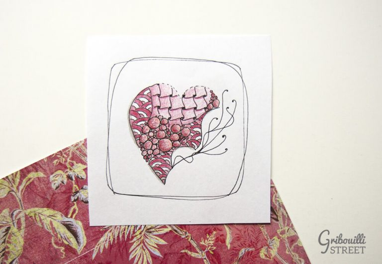 Coeur zentangle