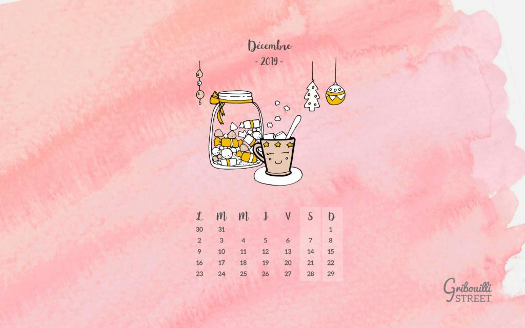 Calendrier Hello décembre 2019 version tablette